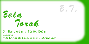 bela torok business card